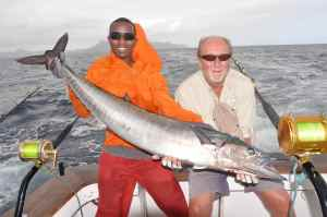 Bob Clements with his first day wahoo
