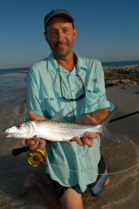 Terry Smith with a nice Belize bonefish