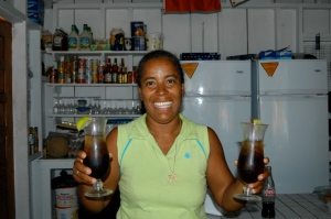 Anyone for a rum n' coke-the bar at Ranguana!