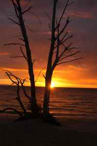 DAWN AT TERRE ROUGE BEACH CAMP, NOSY BE