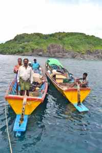 Local fishermen join us for lunch at 'The Sisters'. The fish curry they shared with us was amazing!