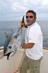 Patrice with the first bluefin