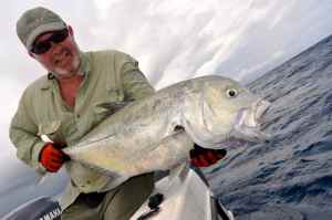 Andrew Leaves holds a good GT caught at 'The Sisters'
