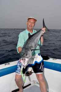 Terry Smith with King Mackerel caught jigging