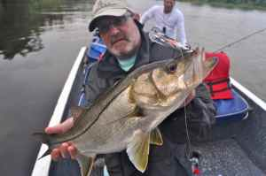 Andrew Leaves with a 'fat snook'