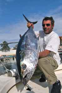 Patrice with a typical south of france bluefin tuna