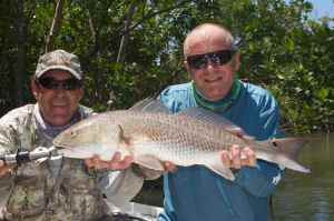 My best redfish of the trip with Capt. Jim Wilcox