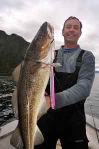 Terry Smith with a good cod caught on a speed jig