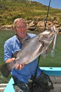 Derek 'Del' Elliot with a Lake Victoria Nile Perch