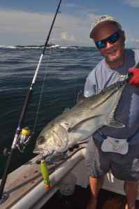 Horse eye jack caught popping in Panama