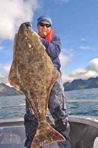 Stunning halibut caught on Storm Giant Jigging Shad