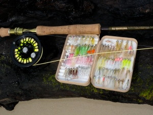 Selection of standard bonefish flies