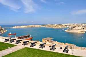 The historic harbour at Valetta