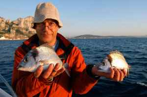 A brace of Two-Banded Bream for Alfred