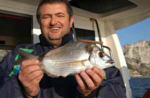 Bernard with a nice Two-Banded Bream