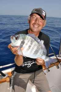 Chris with a black bream
