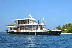 The Sultan of Madivaru, the live aboard boat we use in The Maldives