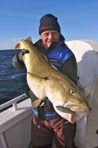 Big cod, small shad. Storm Wildeye Shads fished off a flying collar can be deadly