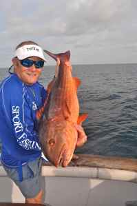 Mullet snapper caught in Panama, one of several key species that take surface poppers
