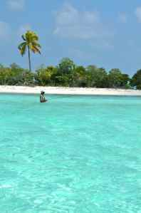 Fly fishing at a remote atoll in The Maldives