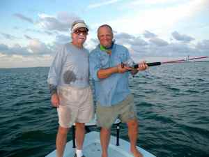 Tarpon fishing off Islamorada with Bud n Mary's owner and Florida fishing legend Capt. richard Stanczyk