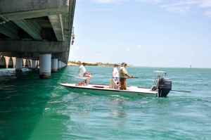 Waiting for the next bite at 'Channel 2', an iconic Islamorada tarpon mark