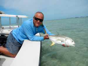 Jack Crevalle caught sight fishing a flat