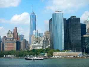 The southern tip of Manhattan Island, here you'll find some pretty amazing striped bass fishing