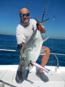 The only GT taken popping all week, a modest 35lb fish that took a Yozuri Surface Bull, one lure I never travel without