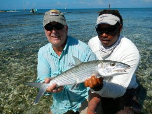 RAY JENNINGS & GEORGE WITH A 5LB BONE FROM THE SAPODILLA KEYS