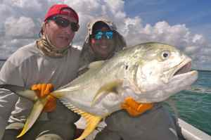 Jim & Rito with one of many 20-30lb jack crevalle