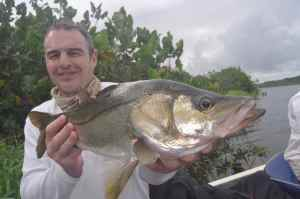 Jim Butler with a nice light tackle snook