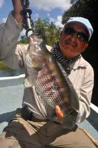 Doc Khanna with a chunky rainbow bass
