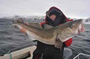 Gary holds a 20lb plus cod