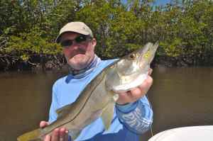 Andrew Leaves with when of several Cape Sable snook