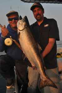 A nice early morning chinook salmon off Cheney Point