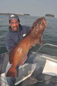 George Cithbert with a near 40lb lingcod