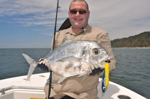 And a great African pompano caught on a stick bait.