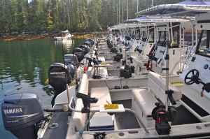 Fleet of sport fishers based at King Pacific Lode.