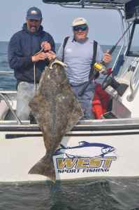 Another big halibut caught on a Storm jig.