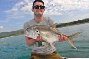 A nice Pacific jack crevalle caught inshore off the Osa Peninsula