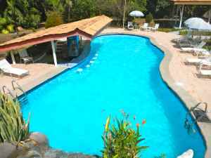 The pool at Crocodile Bay Lodge, Costa Rica.