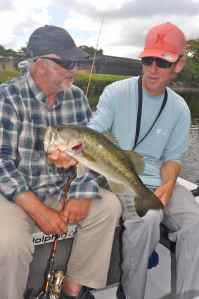 A largemouth bass for Terry, one of several we caught