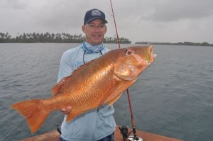 Dave Morel holds a fine Dog Snapper.