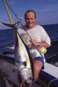 Yellowfin tuna caught on fly, Kenya