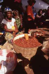 Street market in Freetown, Sierra Leone