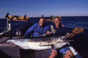 My black marlin caught on 30lb class stand up tackle off Sodwana Bay, South Africa