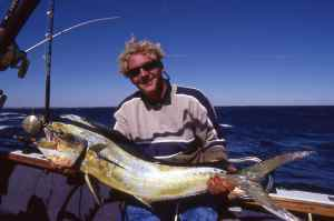 Sean Visage holds a nice dorado caught off Sodwana Bay