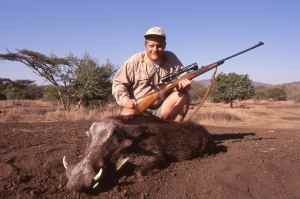 Dad shot Pumba! Day two was cancelled so we went hunting.