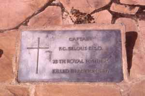 The grave of Capt. F.C. Selous D.S.O lies in a remote part of the reserve.